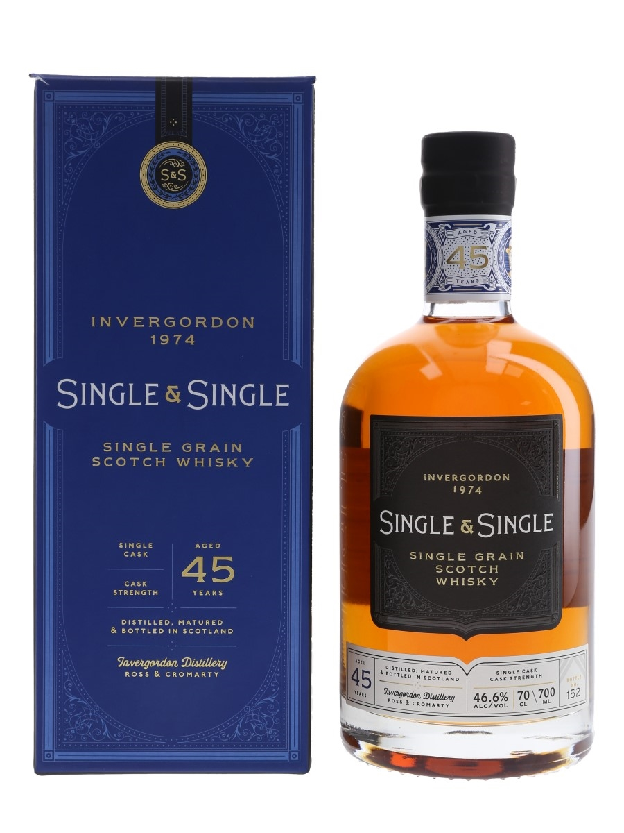 Invergordon 1974 45 Year Old Single & Single 70cl / 46.6%