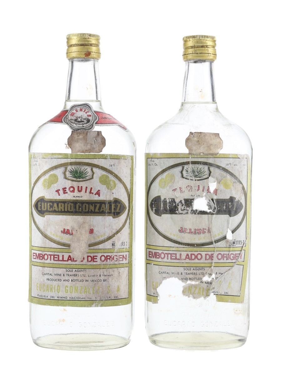Eucario Gonzalez Tequila Bottled 1970s 2 x 70cl / 38%