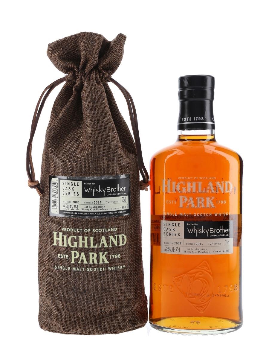 Highland Park 2005 12 Year Old Bottled 2017 - Whisky Brother 75cl / 65.8%