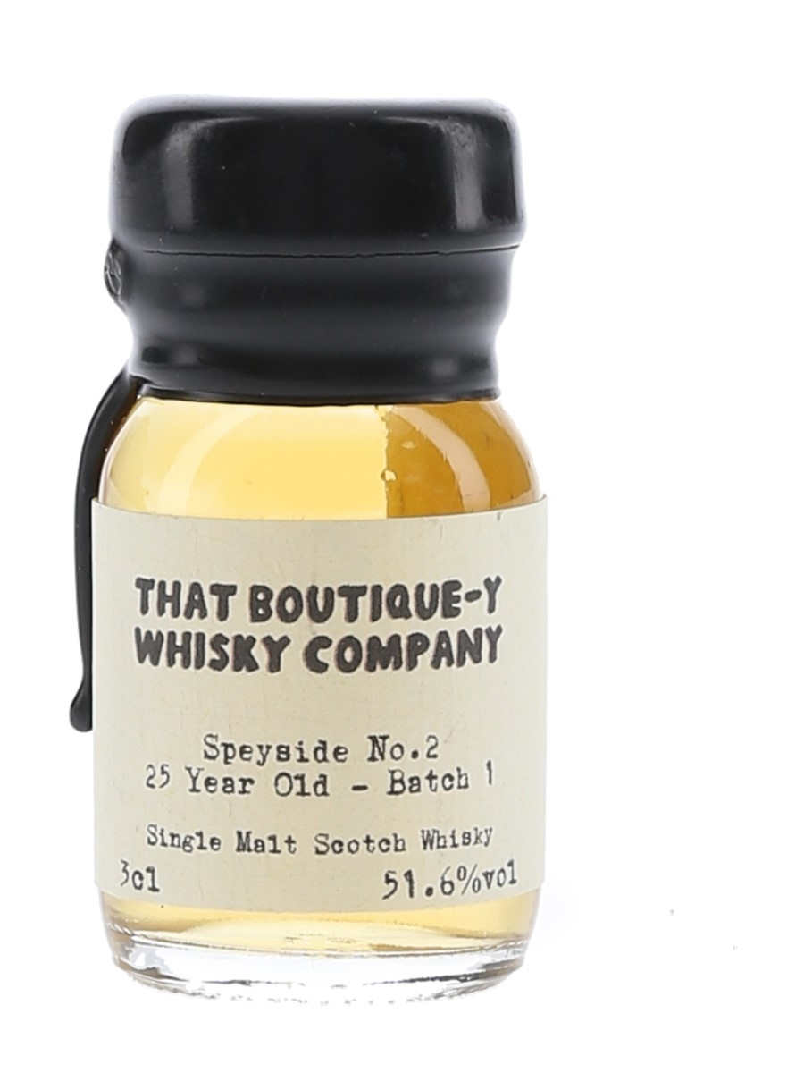 Speyside No.2 25 Year Old Batch 1 That Boutique-y Whisky Company 3cl / 51.6%
