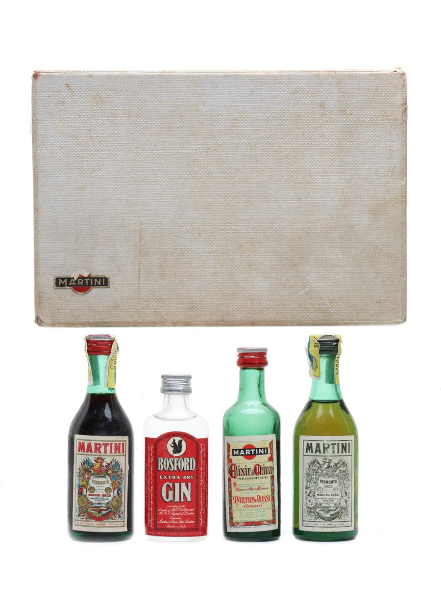 Martini Set Bottled 1960s 4 x 3.9cl-5.9cl