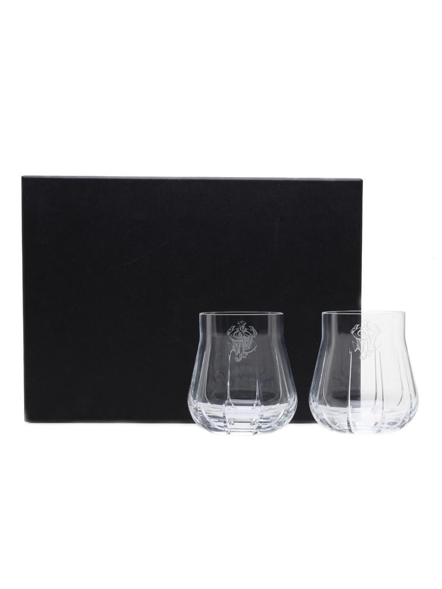 Johnnie Walker Chateau Baccarat Glasses  11cm x 10cm