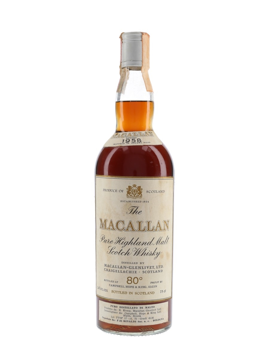 Macallan 1958 Campbell, Hope & King Bottled 1970s - Rinaldi 75cl / 46%