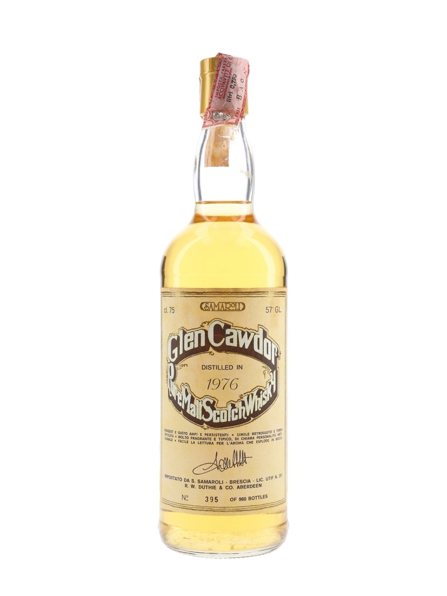 Glen Cawdor 1976 Bottled 1980s - Samaroli 75cl / 57%