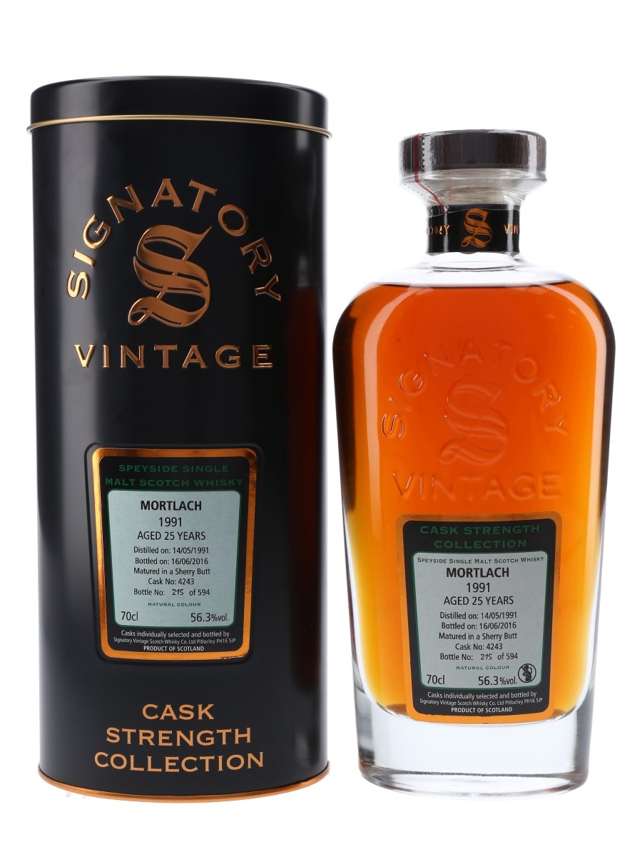 Mortlach 1991 25 Year Old Bottled 2016 - Signatory Vintage 70cl / 56.3%