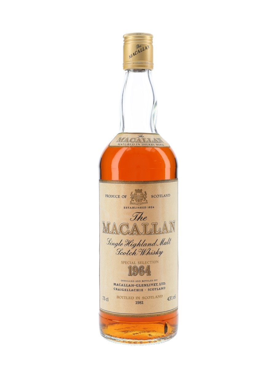 Macallan 1964 Bottled 1981 75cl / 43%