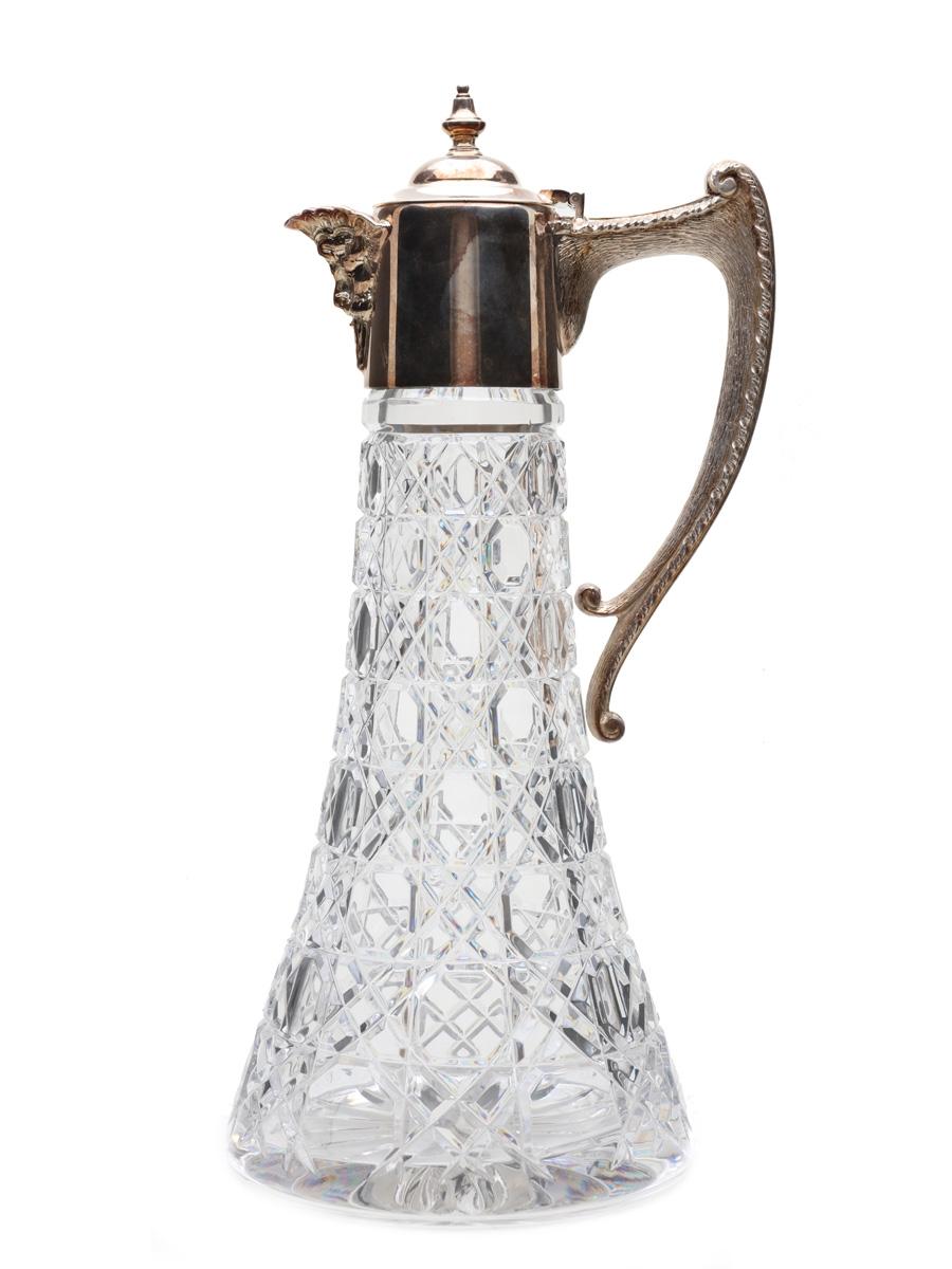 Silver Plated Crystal Claret Jug  30cm x 13cm