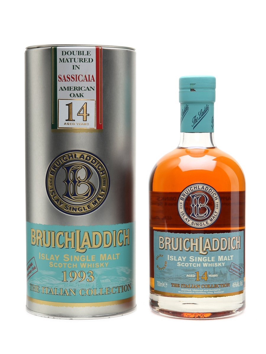 Bruichladdich 1993 Sassicaia American oak The Italian Collection 14 Years Old 70cl