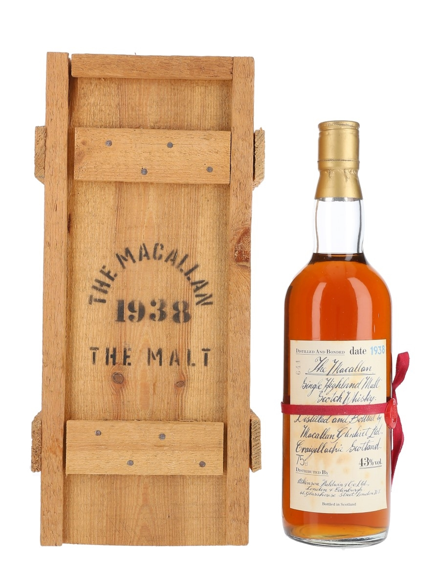 Macallan 1938 Handwritten Label Bottled 1980s - Atkinson Baldwin & Co. Ltd. 75cl / 43%