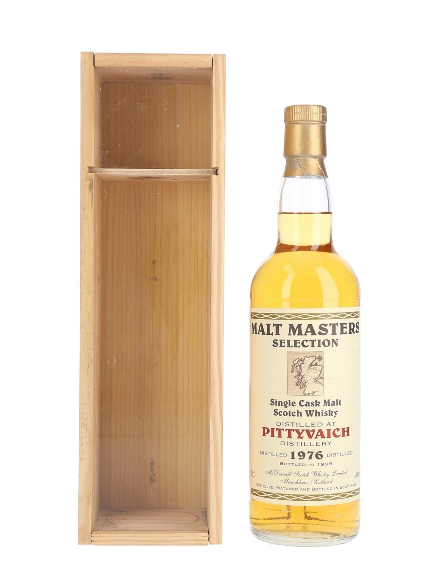 Pittyvaich 1976 Malt Masters Selection Bottled 1998 - McDowall Scotch Whisky Limited 70cl / 43%