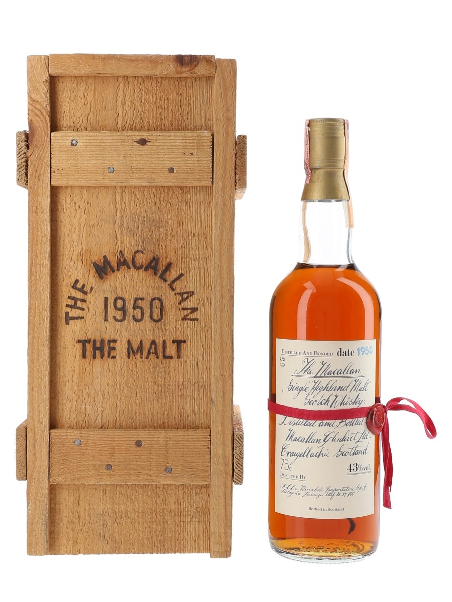 Macallan 1950 Handwritten Label Bottled 1980s - Rinaldi 75cl / 43%