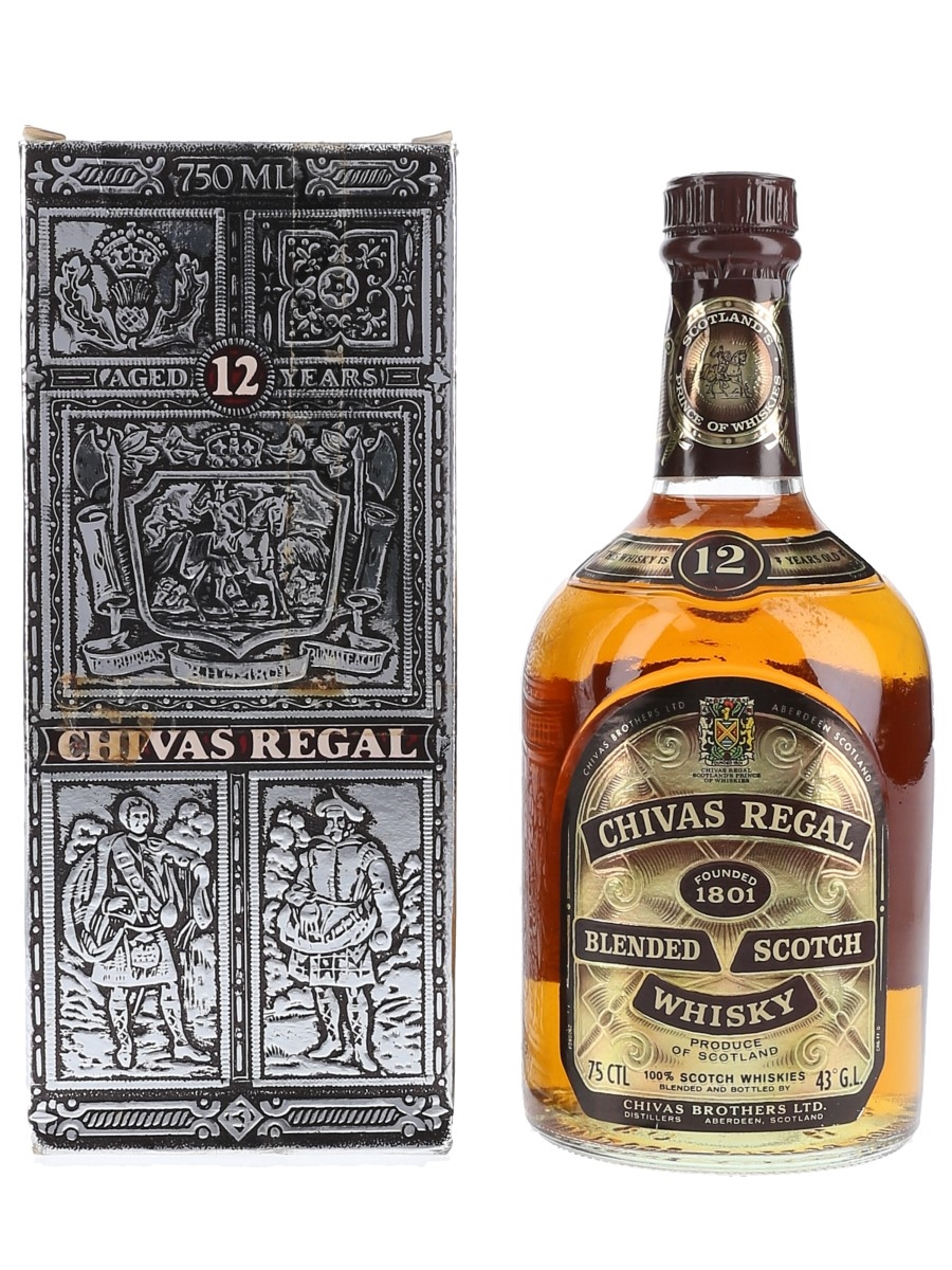 Chivas Regal 12 Year Old Bottled 1980s - Singapore, Malaysia, Brunei 75cl / 43%