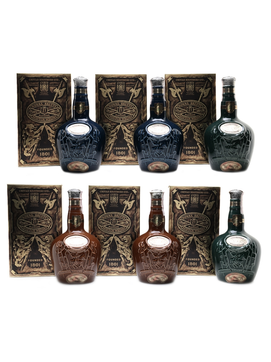 Royal Salute 21 Year Old Bottled 1970s-1980s - Singapore, Malaysia, Brunei 6 x 70cl / 43%