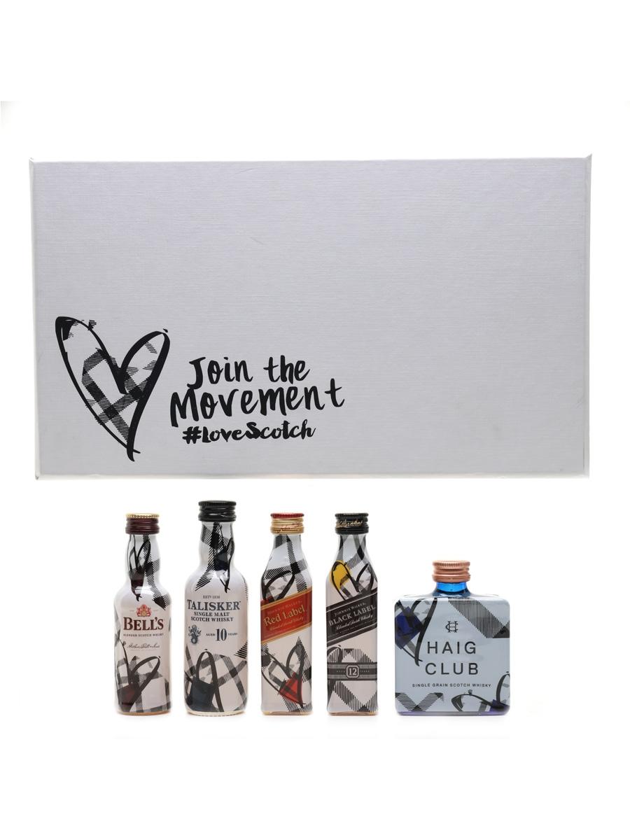 Join The Movement #LoveScotch Bell's, Haig Club, Johnnie Walker, Talisker 5 x 5cl