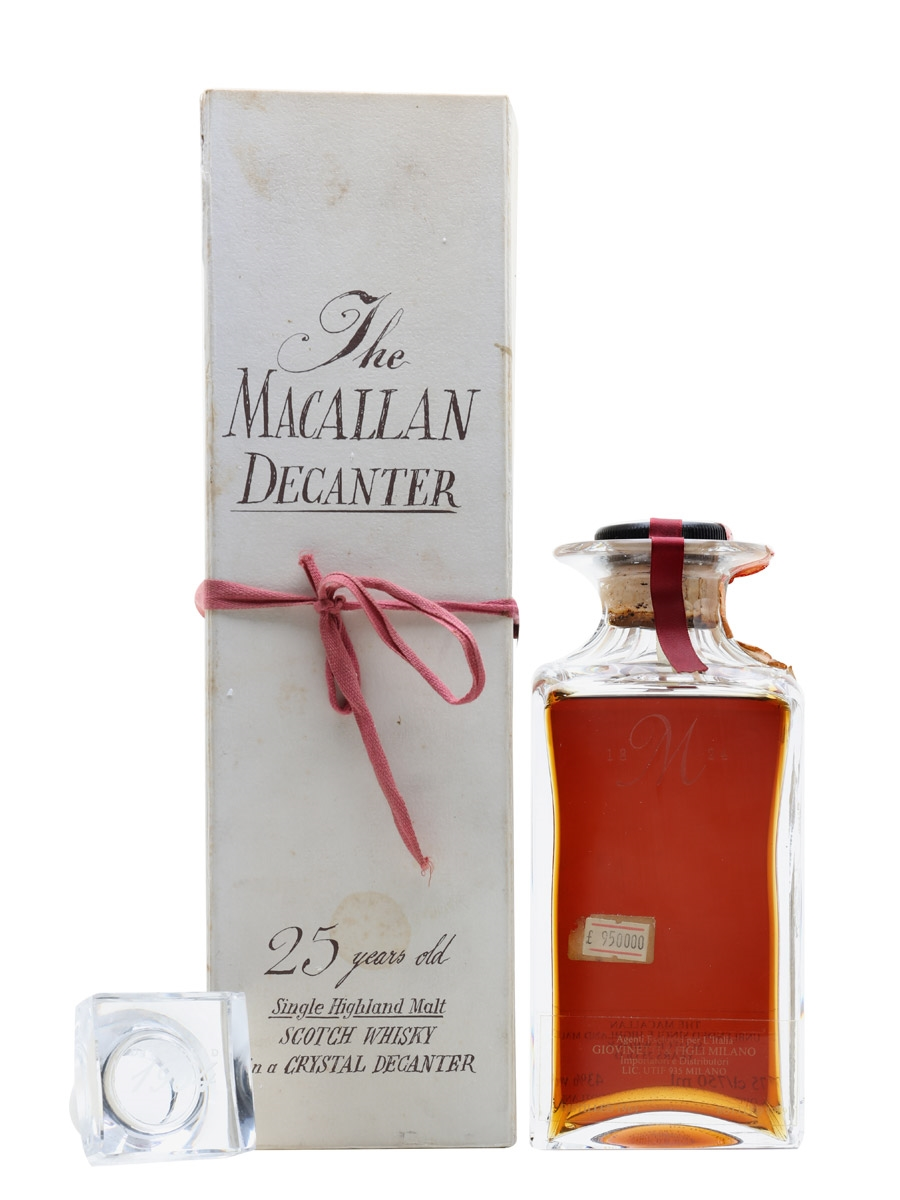 Macallan 1964 25 Year Old Tudor Crystal Decanter Bottled 1989 - Giovinetti 75cl / 43%