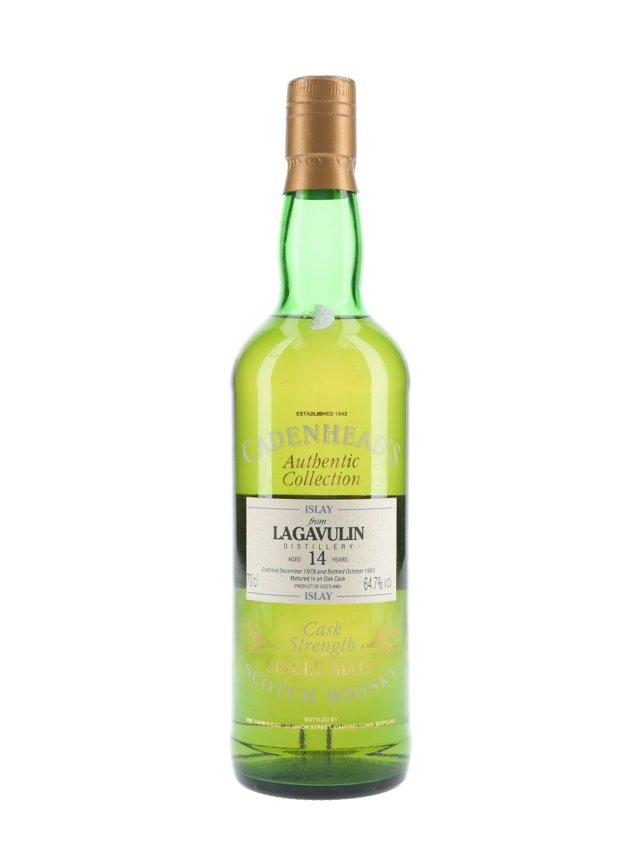 Lagavulin 1978 14 Year Old Bottled 1993 - Cadenhead's 70cl / 64.7%