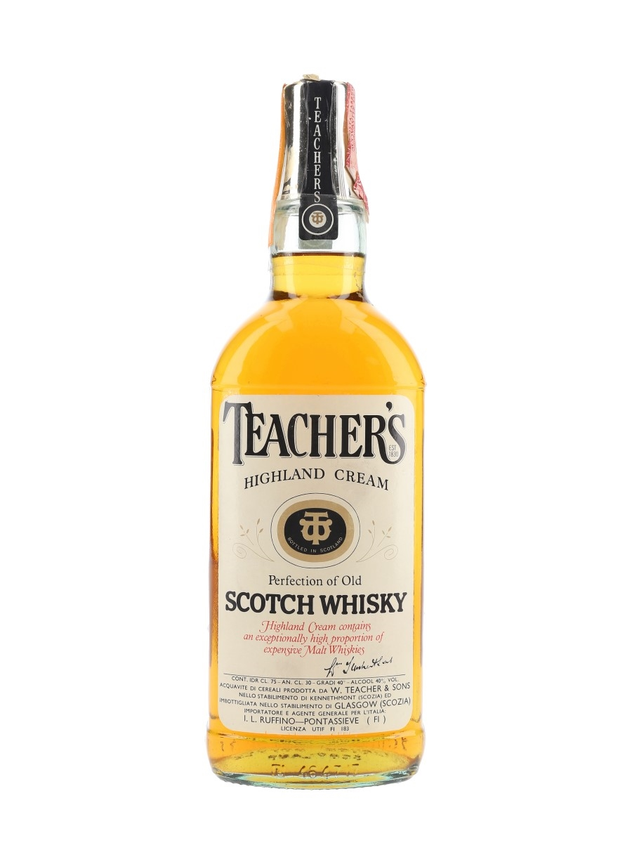 Teacher's Highland Cream Bottled 1980s - Ruffino 75cl / 40%
