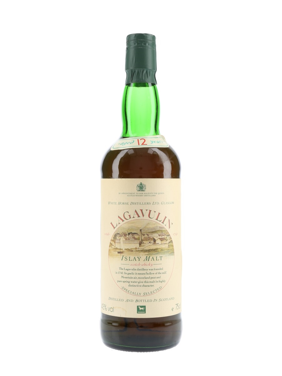 Lagavulin 12 Year Old Bottled 1980s - White Horse Distillers 75cl / 43%