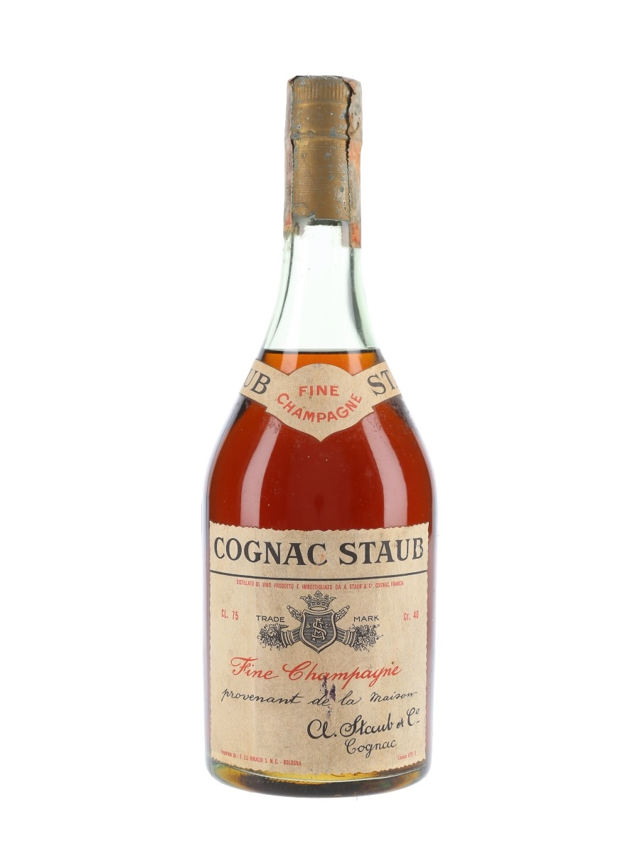 Staub Fine Champagne Cognac Bottled 1970s - Rinaldi 75cl / 40%