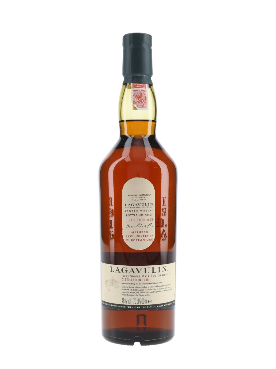 Lagavulin 1995 12 Year Old Bottled 2008 - Friends Of The Classic Malts 70cl / 48%