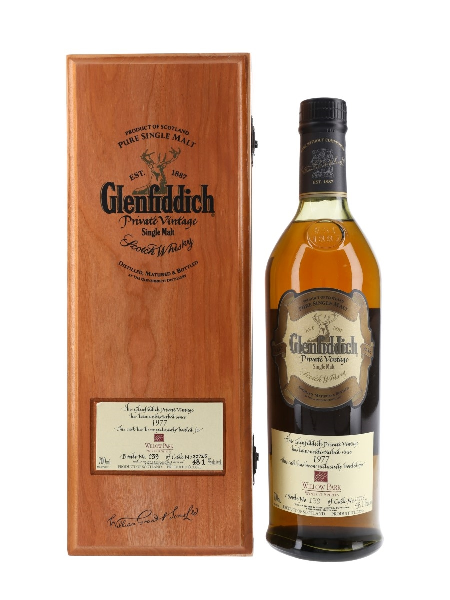 Glenfiddich 1977 Private Vintage Willow Park Limited Edition 70cl / 48.1%