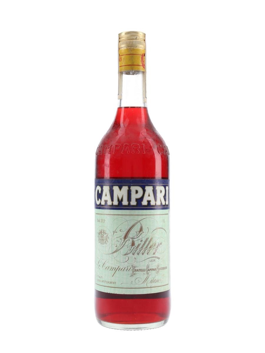 Campari Bitter Bottled 1980s - Portugal 100cl / 28.5%