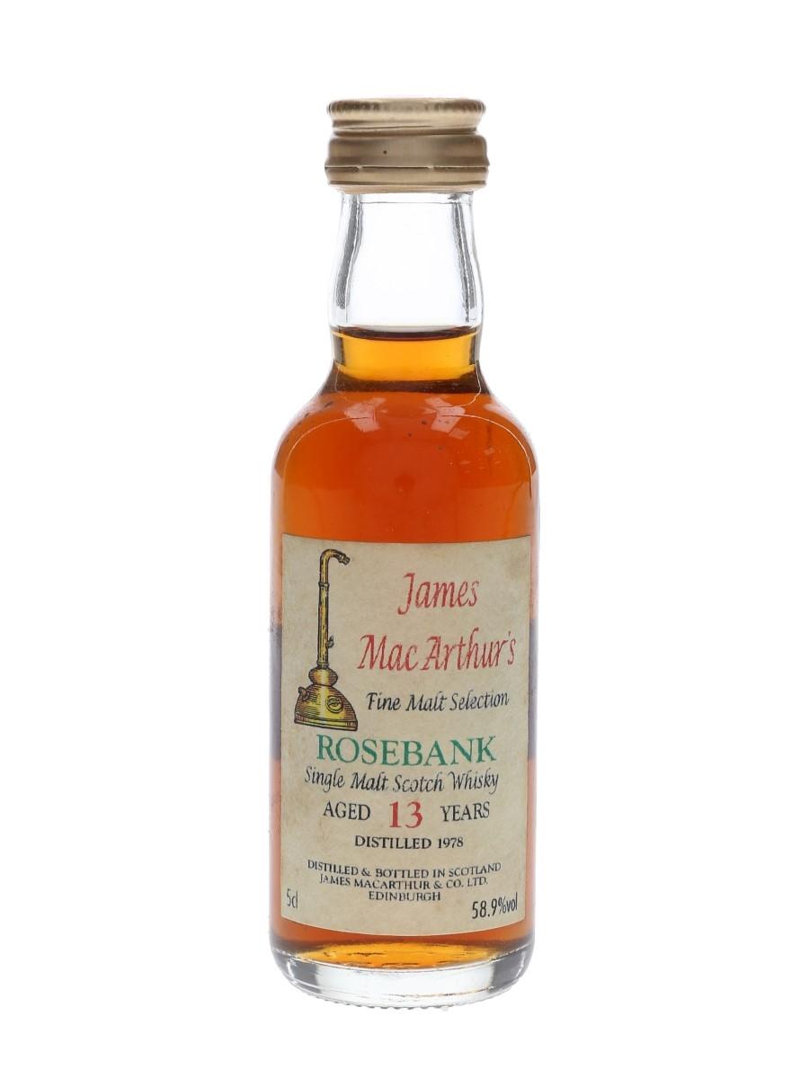 Rosebank 1978 13 Year Old Mini Bottle Club 1993 - James MacArthur's 5cl / 58.9%
