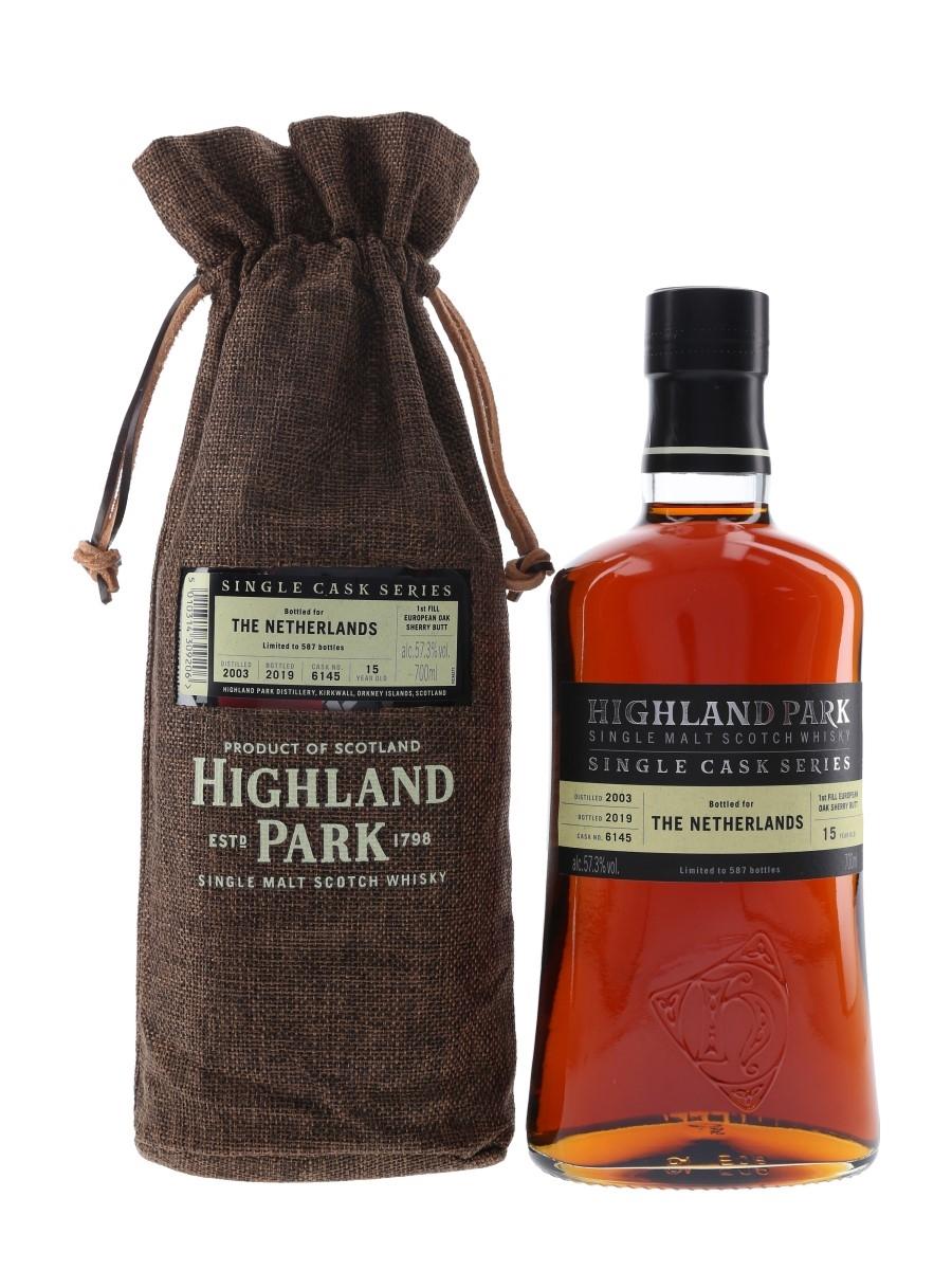 Highland Park 2003 15 Year Old Single Cask Bottled 2019 - The Netherlands 70cl / 57.3%