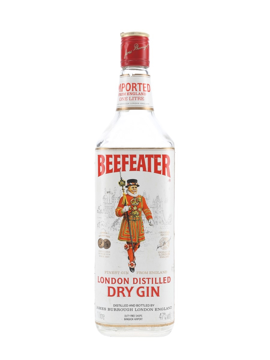 Beefeater London Distilled Dry Gin Bottled 1980s - Bangkok Duty Free 100cl / 47%