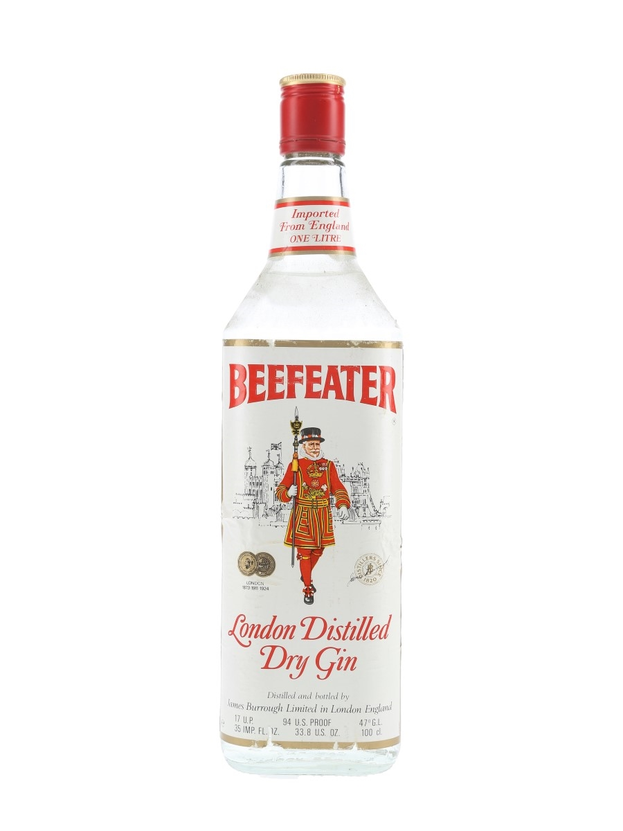 Beefeater London Distilled Dry Gin Bottled 1970s-1980s 113.5cl / 47%