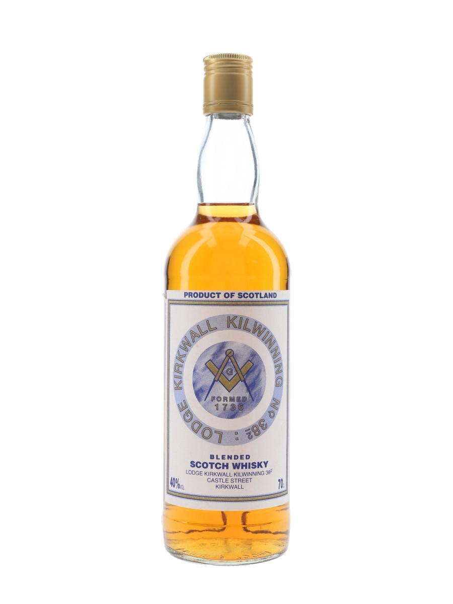 Lodge Kirkwall Kilwinning No. 38.2 Bottled 1990s 70cl / 40%