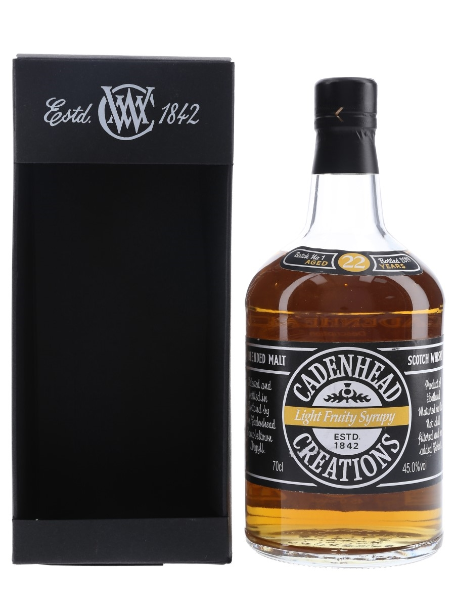 Cadenhead Creations Batch No.1 Light Fruity Syrupy Bottled 2019 70cl / 45%