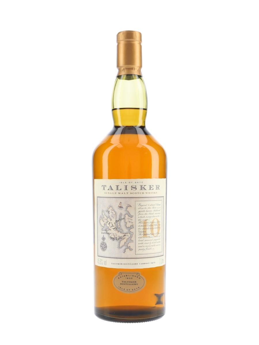 Talisker 10 Year Old Bottled 1990s - Map Label 100cl / 45.8%
