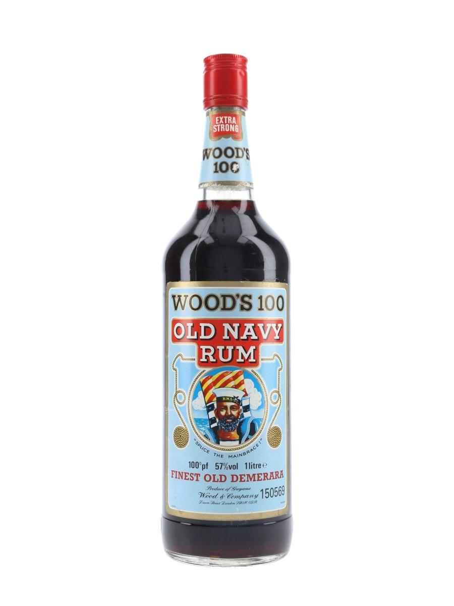 Wood's 100 Old Navy Rum Bottled 1980s 100cl / 57%