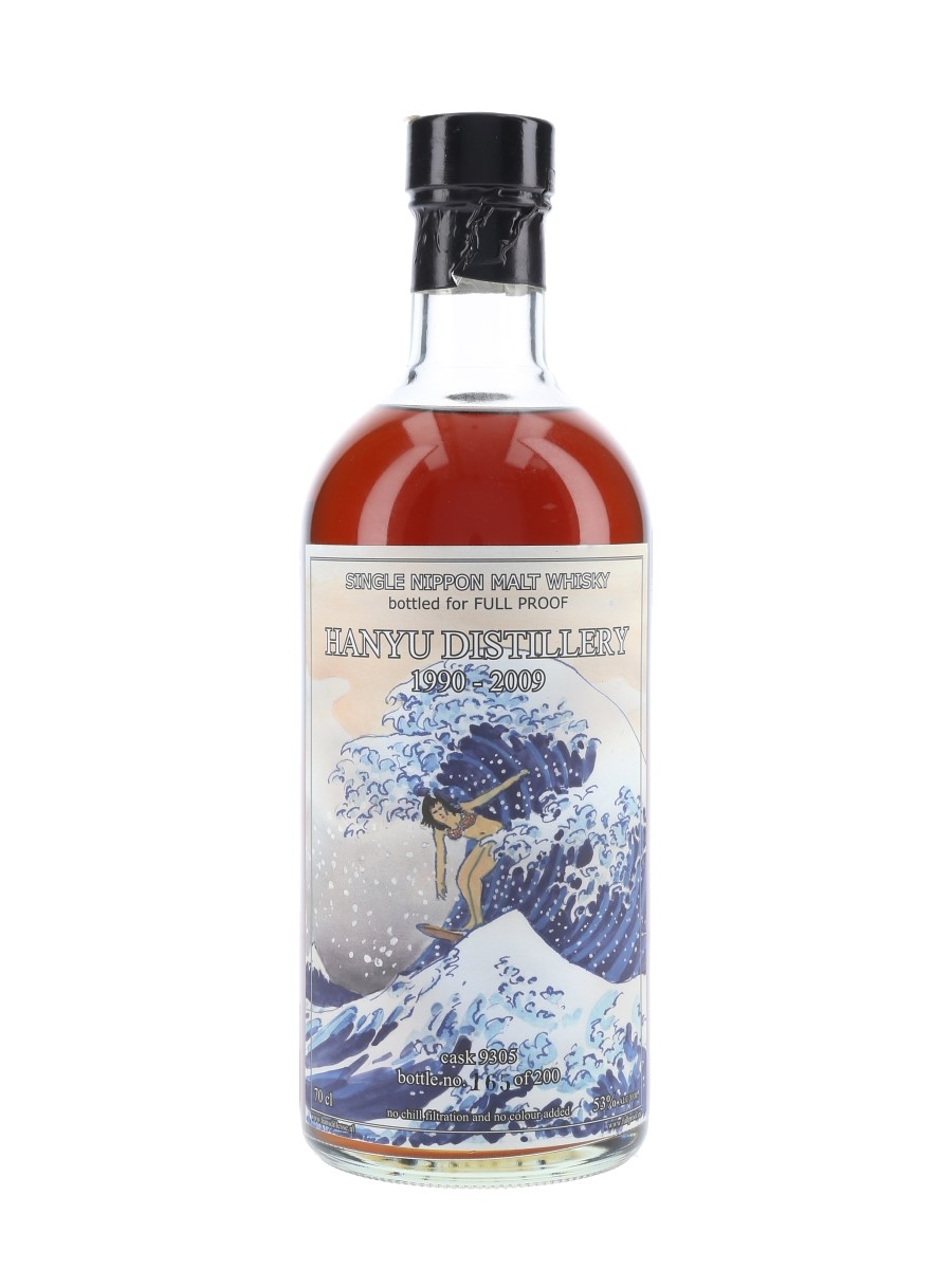 Hanyu 1990 The Wave Cask #9305 Bottled 2009 - Full Proof 70cl / 53%