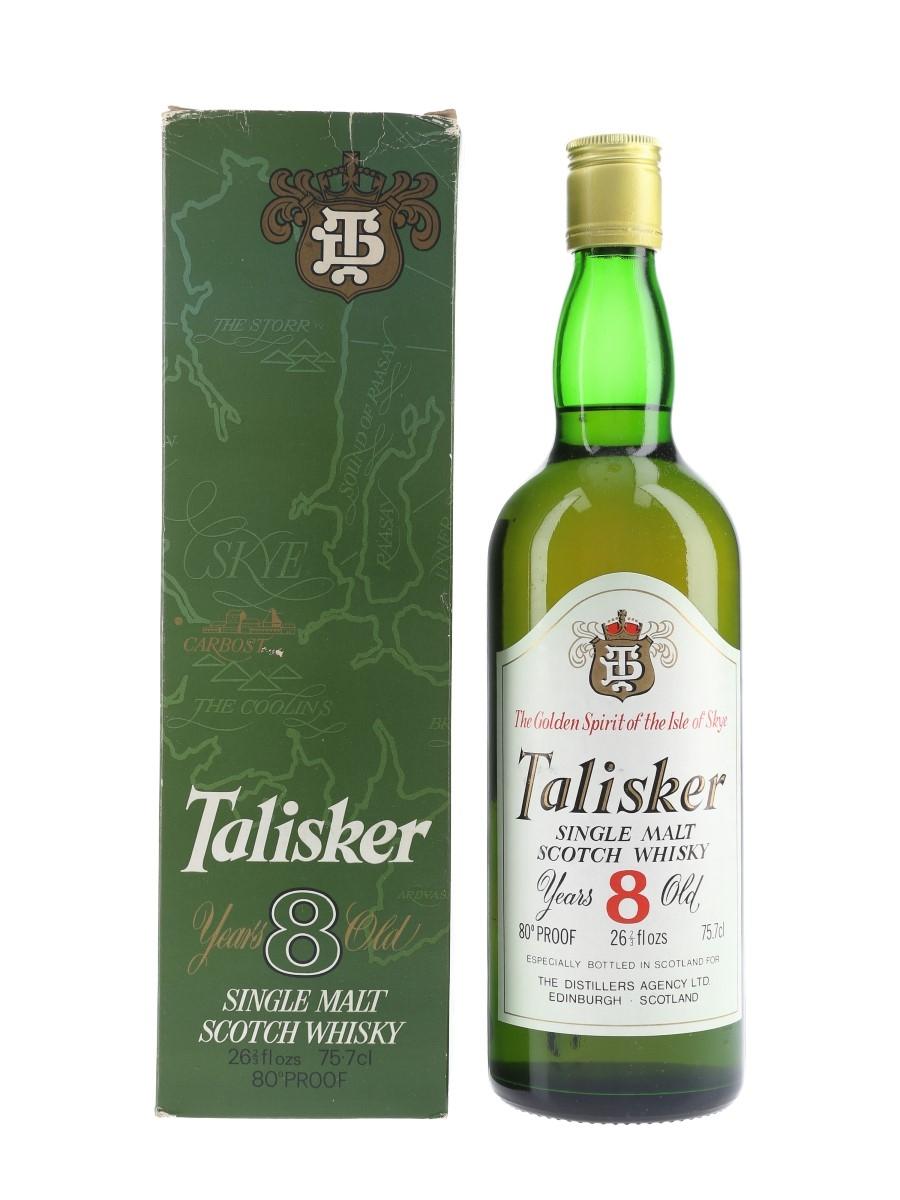 Talisker 8 Year Old Bottled 1970s - The Distiller's Agency Ltd 75.7cl / 45.6%