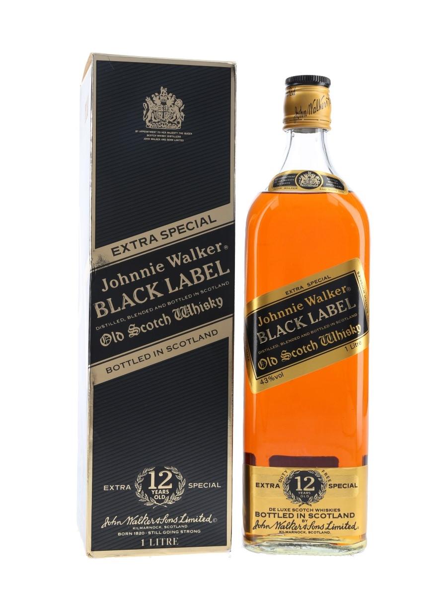 Johnnie Walker Black Label Bottled 1980s 100cl / 43%