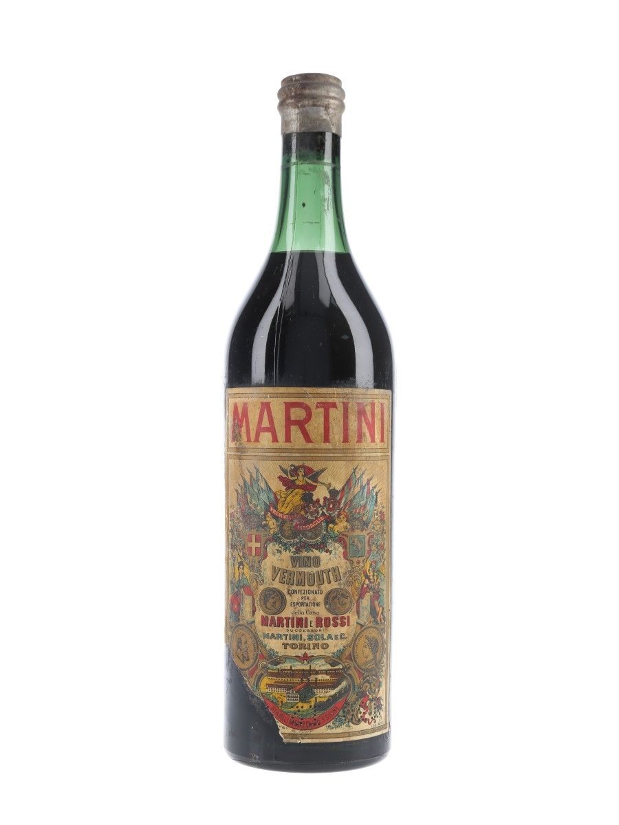 Martini Vino Vermouth Bottled 1950s 100cl