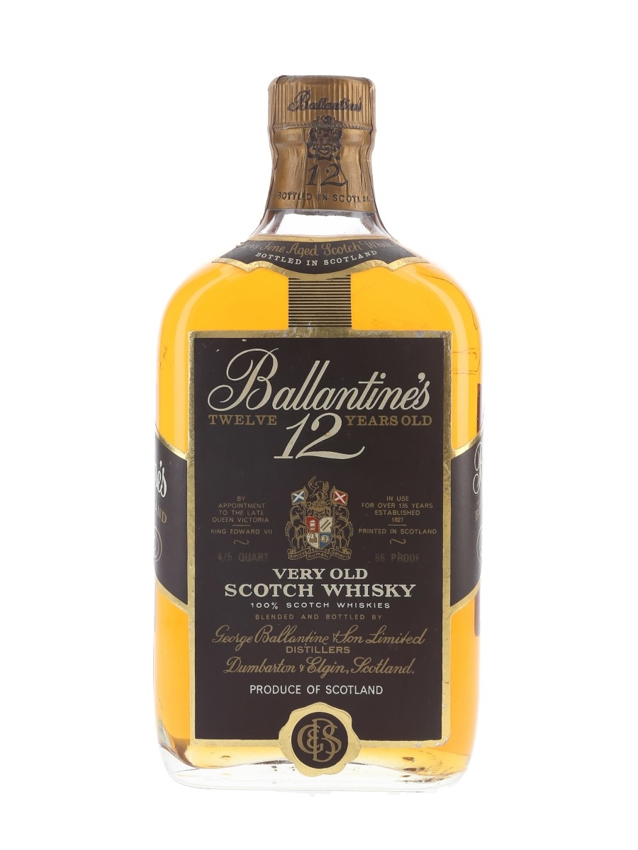 Ballantine's 12 Year Old Bottled 1960s - Duty Free 75.7cl / 43%