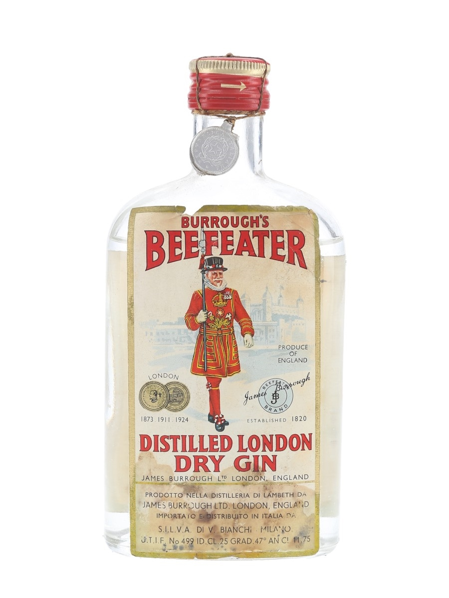 Beefeater London Dry Gin Bottled 1950s - Silva 25cl / 47%