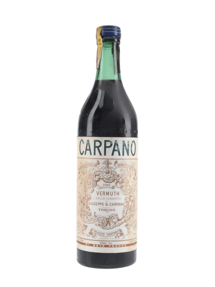 Carpano Vermouth Bottled 1960s 100cl / 16.5%