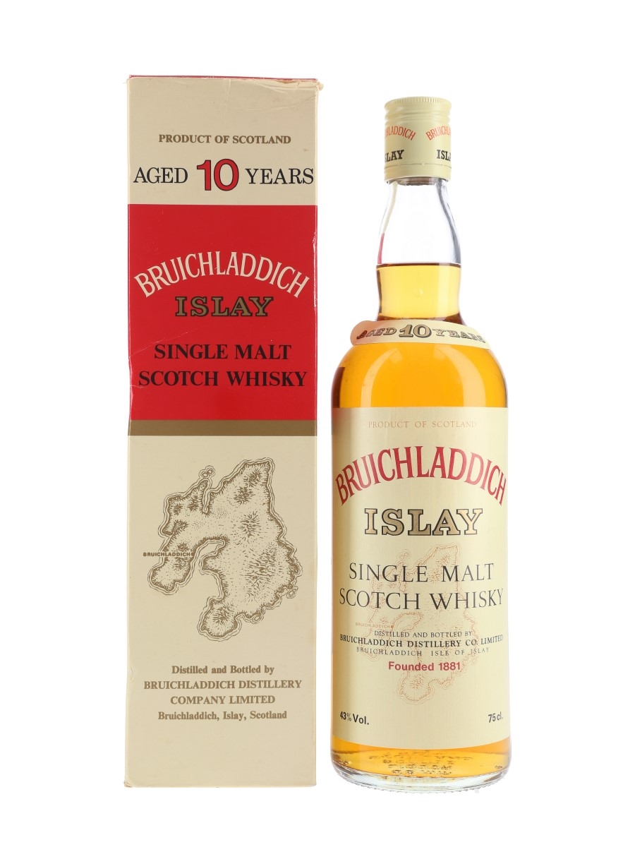 Bruichladdich 10 Year Old Bottled 1970s-1980s 75cl / 43%