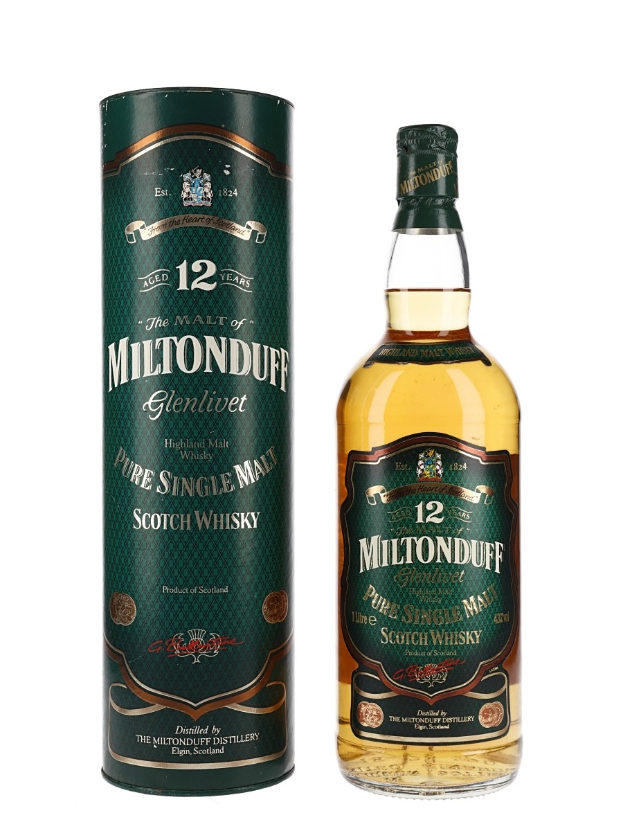 Miltonduff Glenlivet 12 Year Old Bottled 1990s 100cl / 43%