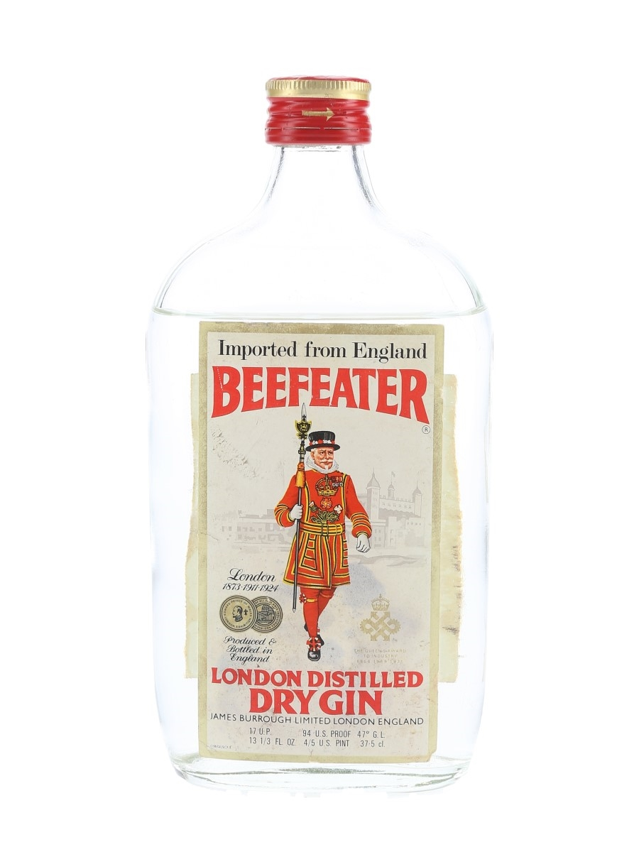 Beefeater Dry Gin Bottled 1960s 37.5cl / 47%