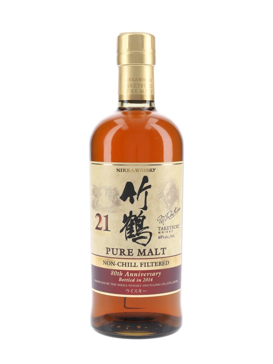 Taketsuru 21 Year Old Bottled 2014 - 80th Anniversary 70cl / 48%