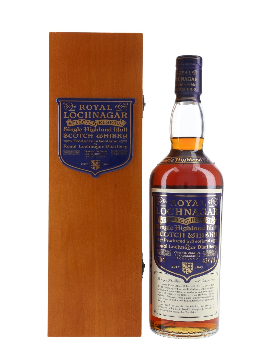 Royal Lochnagar Selected Reserve Bottled 1980s 75cl / 43%