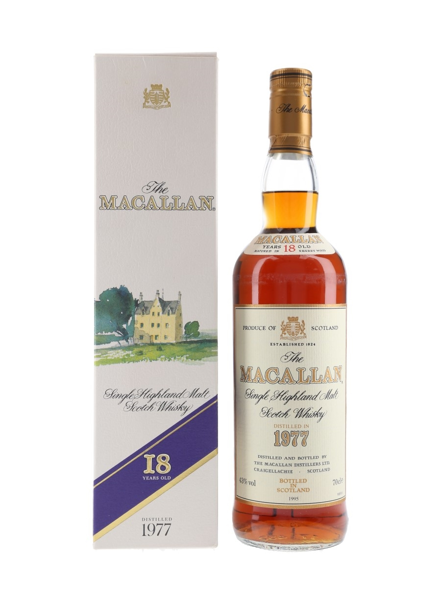 Macallan 1977 18 Year Old Bottled 1995 70cl / 43%
