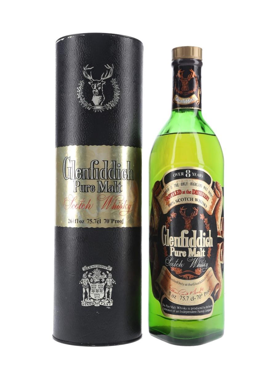Glenfiddich Pure Malt 8 Year Old Bottled 1970s 75.7cl / 40%