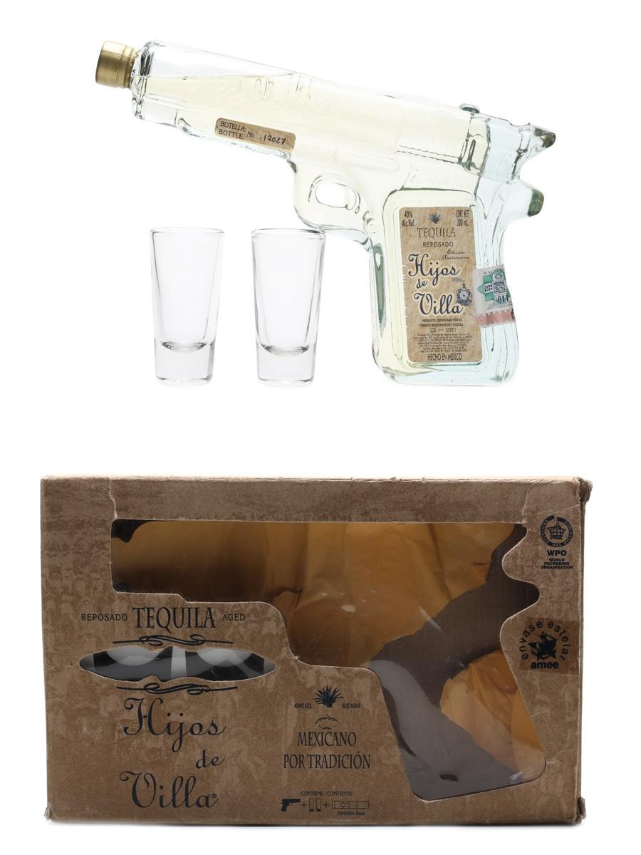 Hijos De Villa Pistol Bottle Caballito Glasses Set 20cl / 40%