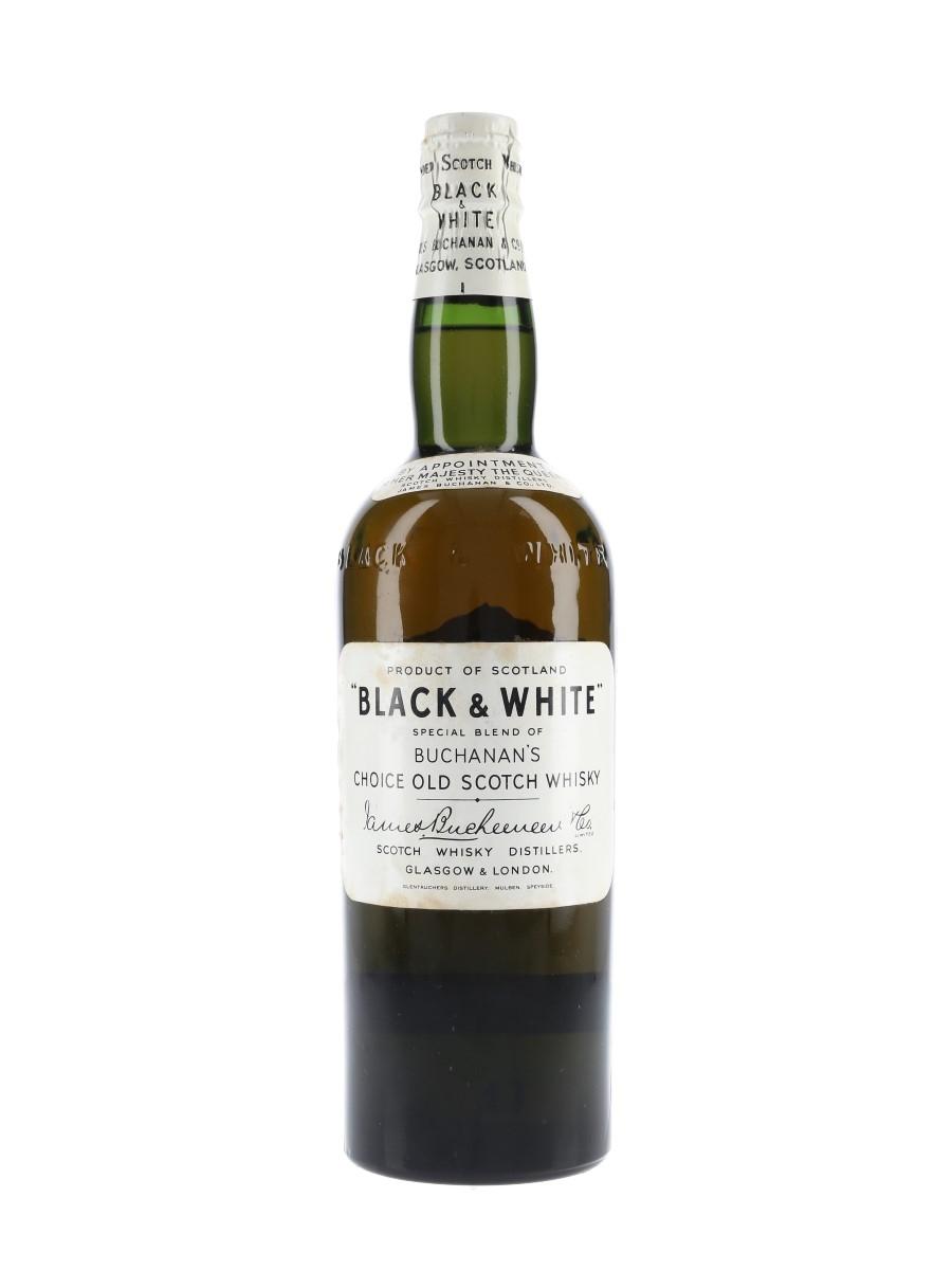 Buchanan's Black & White Spring Cap Bottled 1950s 75cl